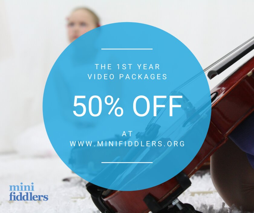 1st Year Minifiddlers videos: now 50% off!