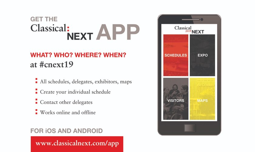 Download Your Classical:NEXT 19 App Here! - Classical:NEXT