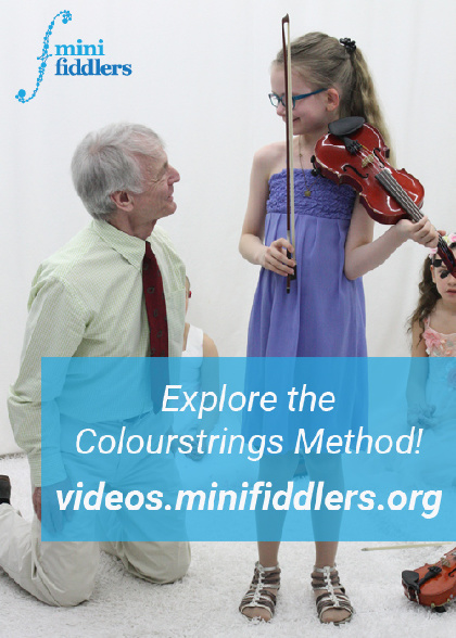 Explore the Colourstrings Method with International Minifiddlers videos!