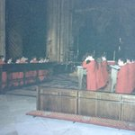 Singing Evensong in Durham Cathedral in 1991 with ISCC
