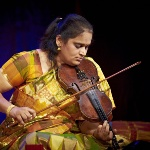 Jyotsna with the South Indian carnatic violin