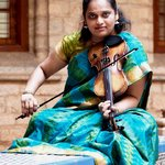 Jyotsna with the carnatic violin