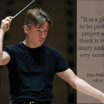 Composer/conductor Esa-Pekka Salonen, the patron of the International Minifiddlers project.