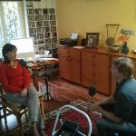 Interviewing Ana Lara in Mexico City