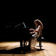 Sonya Lifschitz performing Stalin's Piano in Sydney City Recital Hall