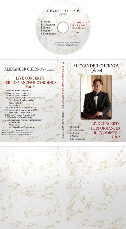 Alexander Chernov(piano).Live Performances Collection vol.1 and vol.2 - Alexander Chernov