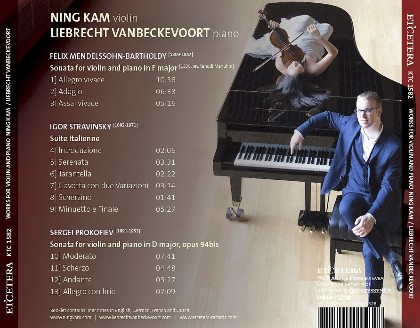 Works for violin and piano Ning Kam/Liebrecht Vanbeckevoort - Liebrecht Vanbeckevoort